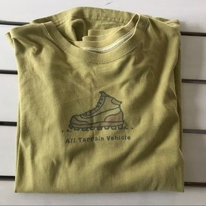 Life is Good Hiking Boot Green Tee Sz Small ATV